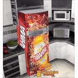 Adesivo Envelopamento De Geladeira Brahma Coca Cola Kombi
