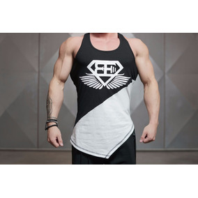 Camisetas Gimnasio Bicolor Body Engineer Olímpica Gym Shark