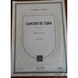 Partitura Canción De Cuna Para Piano Gabriel Fauré Ricordi