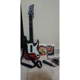 Guitarra Guitar Hero Warriors + Juego + World Tour Wii