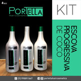 Kit Escova Progressiva De Coco Portella Hair Cosmetics