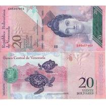 Venezuela Billete De 20 Bolívares Fuertes