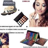 Kit Sombras Calidad Mac+15correctores+24brochas Envio Gratis