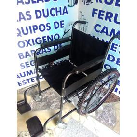 Silla De Ruedas Economica Llantas Neumaticas Acero Esmaltado