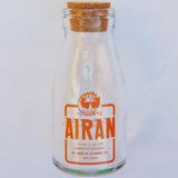Vidro Do Iogurte Airan 1/4 De Litro Decoração Objeto Antigo