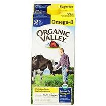 Organic Valley Omega-3 2% Reducción Grasa Leche Orgánica Med
