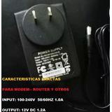 Para Cámaras De Seguridad.. Modem Y Router.. Otros 12v 1,2a