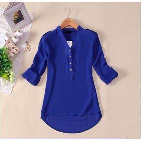 Blusa/ Camisa Chiffon/seda M/g