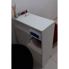 Mesa P/manicure Prática C/prateleira P/estufa 60 Cm