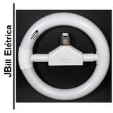 Lâmpada Circular 22w 220v E27 Branco Frio Completa