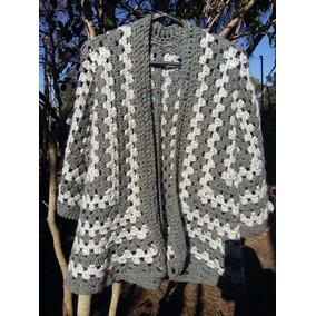 Saco Manga 3/4 Punto Cerrado Tejido A Crochet
