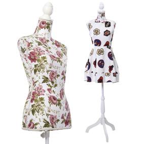 Maniqui Torso Mujer Co Base Exhibidor Vestidos Estamp Vp0110
