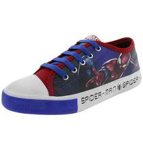 Tênis Infantil Masculino Homem Aranha Azul/vermelho - 3452
