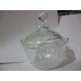 Azucarera Vidrio Grueso Modelo Moderno Con Esfera Elegante
