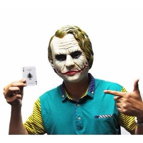 Máscara Coringa Látex Halloween Joker Vilão Batman Promoção