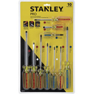 Juego De 10 Destornilladores Pro Stanley Stht69172