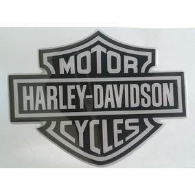 Adesivo Resinado Relevo Harley Davidson Moto Carro Note