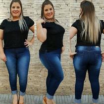 Calça Jeans Feminina Plus Size Tamanho Grande C/ Lycra