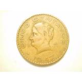 Moneda 5 Centavos Josefa Ortiz Fecha 1942 Cobre