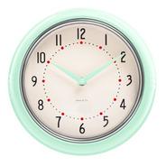 Reloj De Pared Verde Aqua  Retro Marco Metal