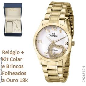 Relógio Champion Feminino Cn28562h + Kit Brinde + N. Fiscal