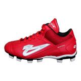 Zapato Béisbol Olmeca Bastian Bota Rojo