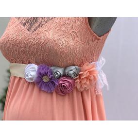 Corsage Baby Shower Cinturón De Maternidad Cinta De Flores