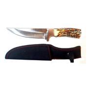 Cuchillo Puñal C/ Ciervo Simil Grande Hermosohoja Entera26cm
