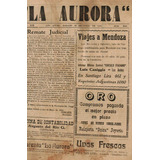 La Aurora De Los Andes, Periódico Antiguo.