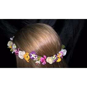 Coronas Vinchas De Flores Artificiales De Tela