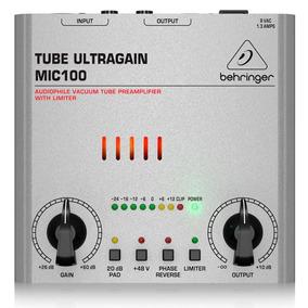 Pré Amplificador Fone Behringer Tube Ultragain Mic 100