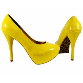 Oferta Zapatillas Amarillas En Charol Número 2