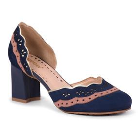 4cfcaed42 Boneca Dafne Feminino Scarpins - Sapatos Azul no Mercado Livre Brasil