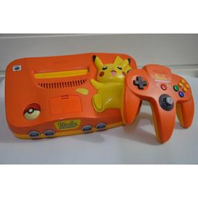 Nintendo 64 Pikachu Edition Ediçao Pikachu Completo Japones