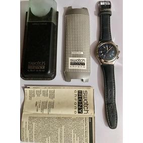 d8d91fe4d6d Swatch Swiss Mostrador Azul Feminino Todo Aço - Relógios De Pulso no ...