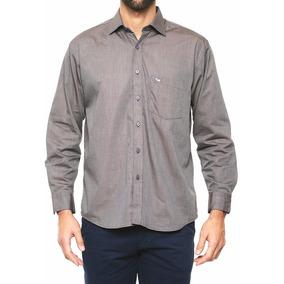 Camisa Ferrioni Caballero De Vestir Cafe Talla L Original