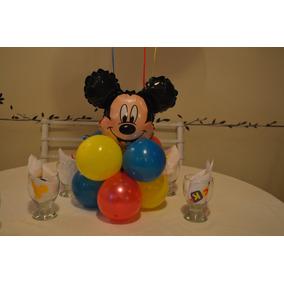 Globos Mickey Centro De Mesa O Souvenir De Globos