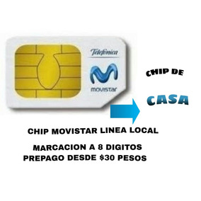 Chip Movistar De Casa Fijo Linea Local 8 Digitos