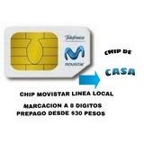 Chip Movistar De Casa Fijo Linea Local 8 Digitos