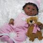 Baby Reborn Sanydoll 51 Cm Bebe Realista Silicon Afroamerica