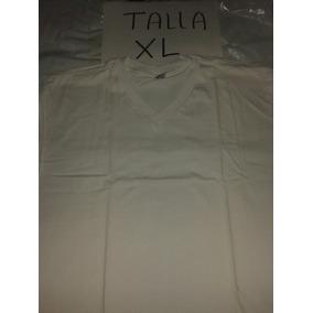 Franela Blanca Ovejita Talla Xl 100% Algodon Cuello En V
