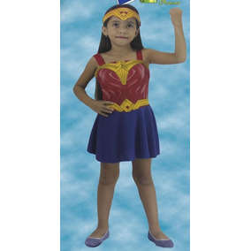 Disfraz Chica Mujer Maravilla & Marca Party Talla 4-6