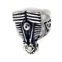 Anillo Motor Moto Acero Inoxidable Bikers Chopper Rock