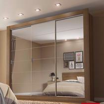 Guarda-roupa Casal 3 Portas Com Espelho Campos Plus Madesa