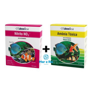 Kit Testes Alcon Labcon Amonia Toxica Doce E Nitrito No2 Nh3