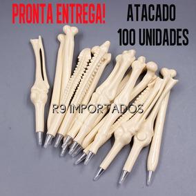 Caneta Osso Atacado Brinde Médico Lembrança Formatura 100un.