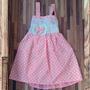 Vestido Festa Infantil C/ Laço De Bolinha Tamanho 1 Promoção
