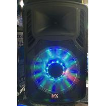 Caixa De Som Bluetooth 55w Rms Max-205 Com Rodinhas- Potente