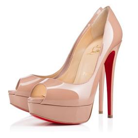 Sapato Original Christian Louboutin Peep Toe 15 Cm Na Caixa