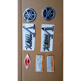 Kit Emblema Tanque E Tampa Lateral Moto Yamaha Vmax